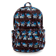 LOUNGEFLY X DISNEY LILO AND STITCH ELVIS STITCH NYLON BACKPACK - FRONT