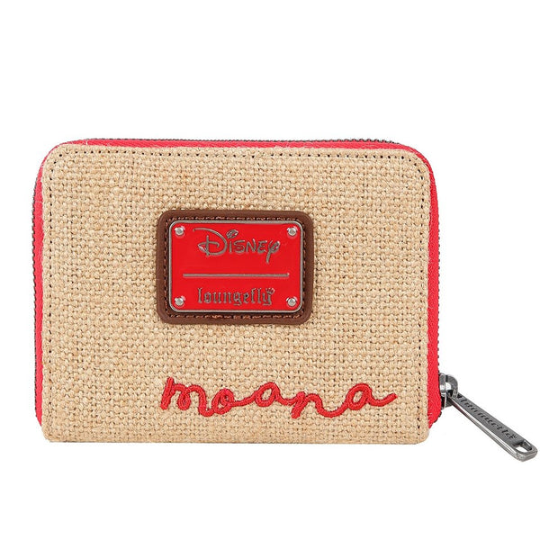 Loungefly Moana Canvas and Burlap Mini Wallet - BACK