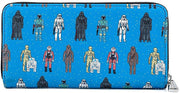 Star Wars Action Figures Allover Print Zip-Around Wallet