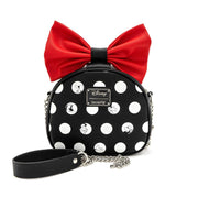 LOUNGEFLY X DISNEY MINNIE MOUSE BIG RED BOW CROSSBODY BAG - BACK