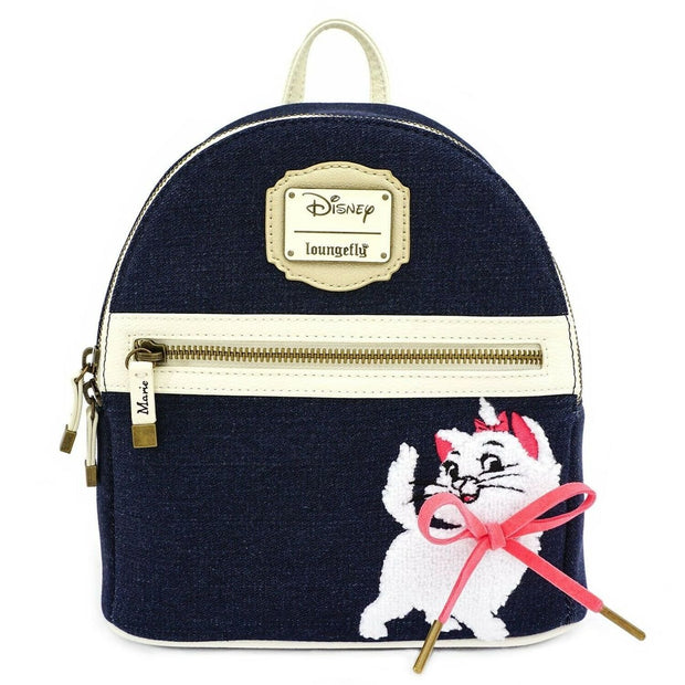 Loungefly x The Aristocats Marie Denim Mini Backpack - FRONT