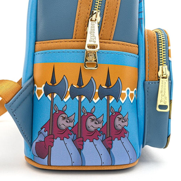 Loungefly x Disney Robin Hood Archery Tournament Mini Backpack - SIDE DETAIL