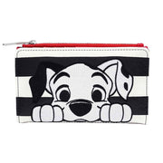 Loungefly x Disney 101 Dalmatians Striped Faux Leather Wallet - FRONT