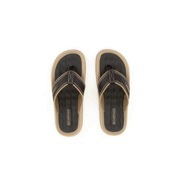 CARTAGO DUNAS II MEN'S SANDALS - BLACK BEIGE TOP