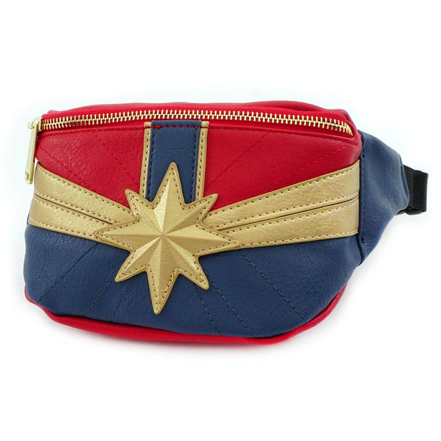 LOUNGEFLY X CAPTAIN MARVEL FANNY PACK - SIDE