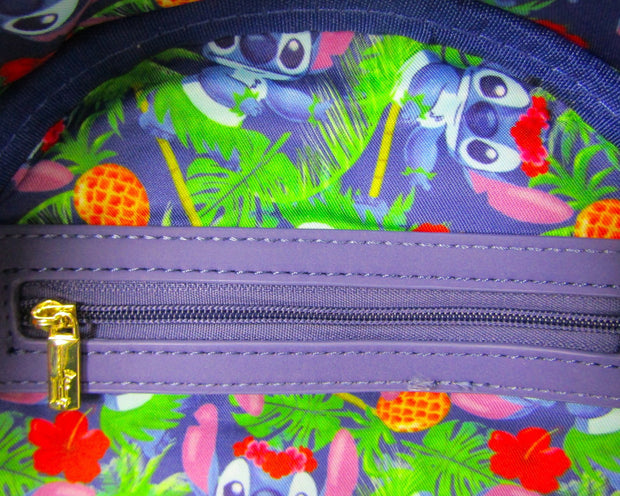 Disney Lilo & Stitch Tropical Leaves Allover Print Mini Backpack