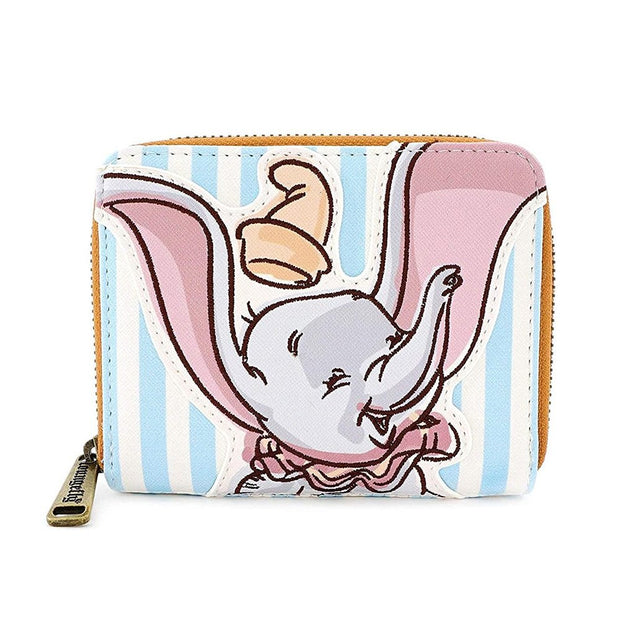 Loungefly x Disney Dumbo Striped Faux-Leather Wallet - FRONT