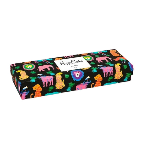 The Big 5 Animals Socks Gift Box Set - 5-Pack