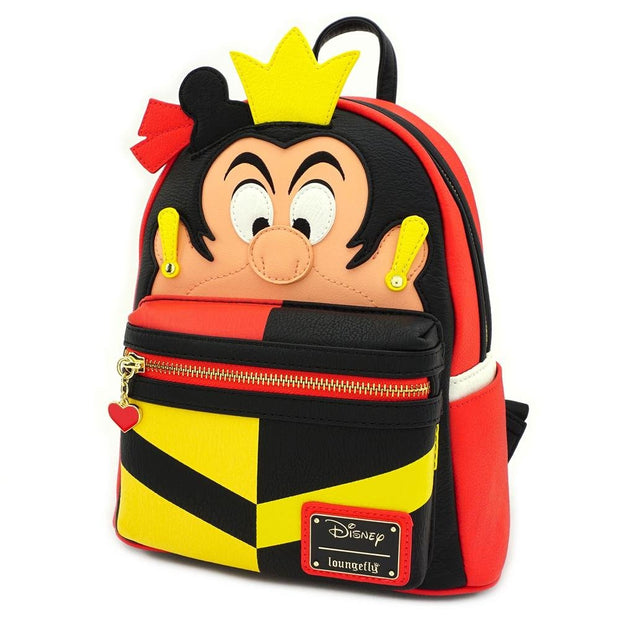 LOUNGEFLY X DISNEY QUEEN OF HEARTS COSPLAY MINI BACKPACK - SIDE