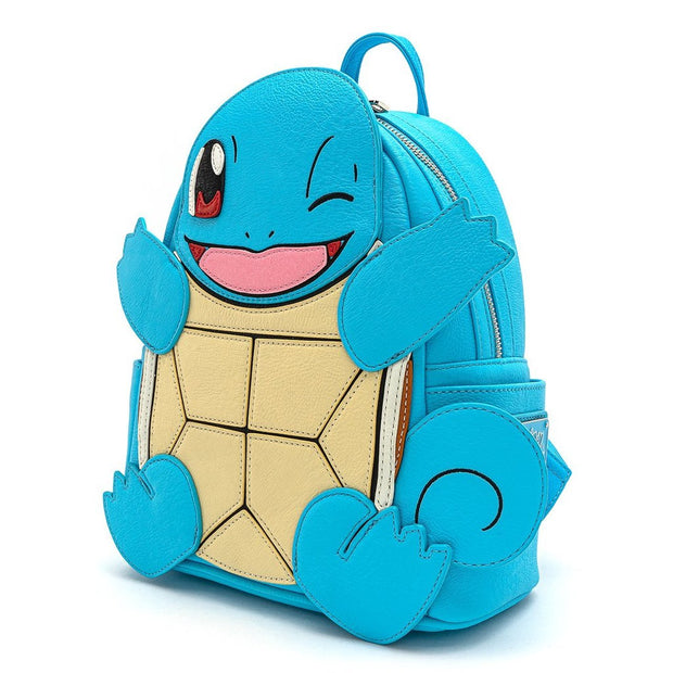 Loungefly x Pokemon Squirtle Cosplay Faux Leather Mini Backpack - SIDE