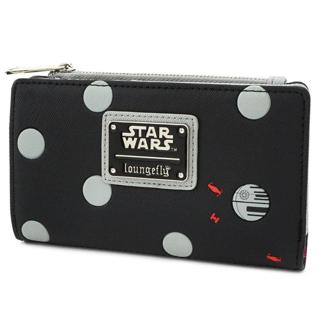 Loungefly x Star Wars Polka Dot Death Star Patterned Wallet - SIDE