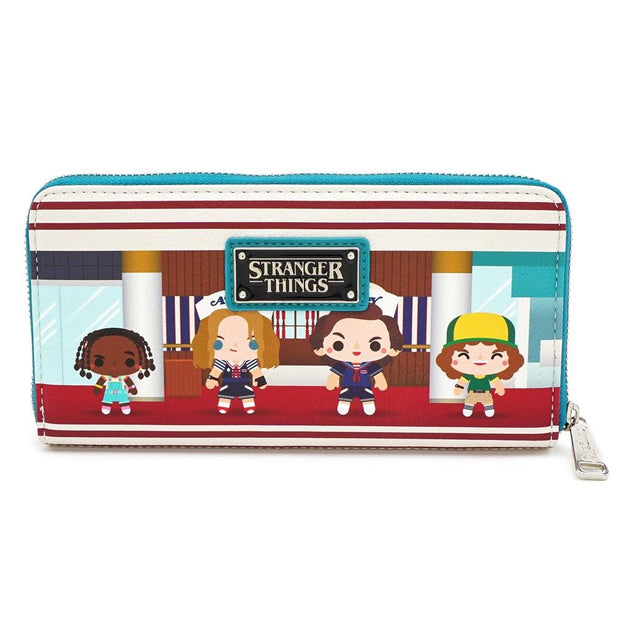 LOUNGEFLY X STRANGER THINGS STARCOURT MALL CHIBI AOP WALLET - BACK