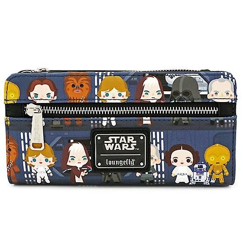 Loungefly x Star Wars Death Star Chibi Characters Printed Wallet - FRONT