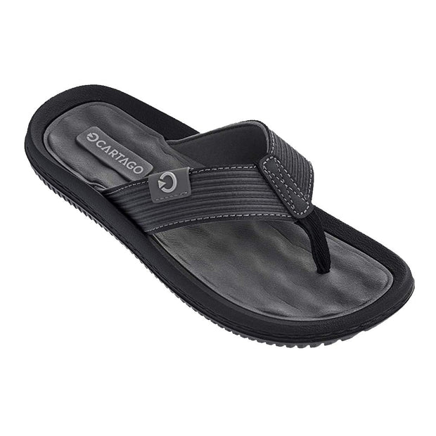 CARTAGO DUNAS VI MEN'S SANDALS CONFORMING EVA INSOLE - GREY BLACK FRONT