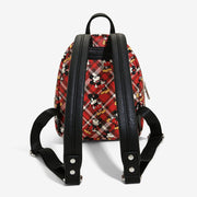 Loungefly x Mickey Mouse Plaid Mini Backpack - BACK