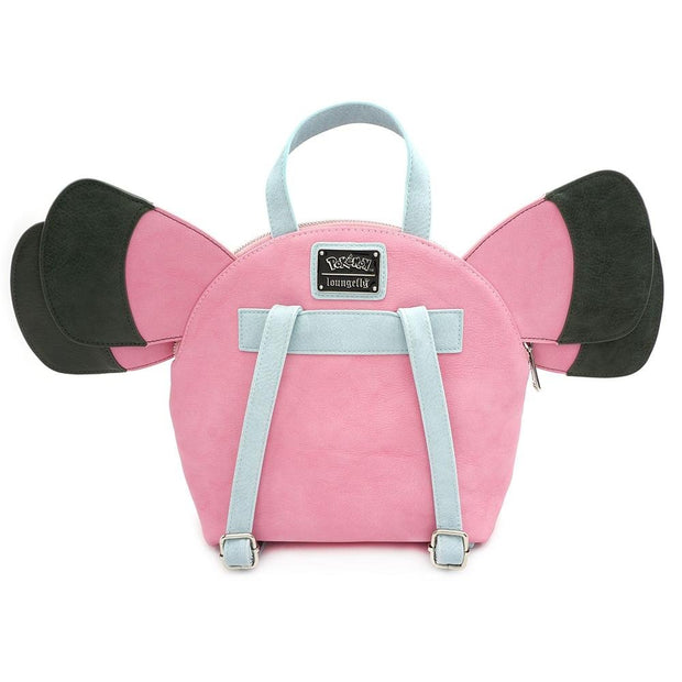 LOUNGEFLY X POKEMON SNUBBULL COSPLAY MINI PU BACKPACK - BACK