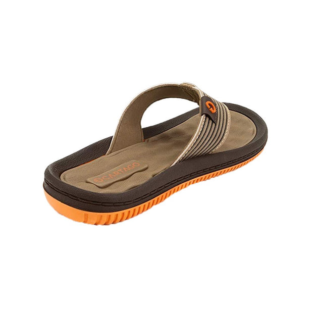Cartago Dunas VI Men's Sandals Conforming EVA Insole - ORANGE BROWN SIDE
