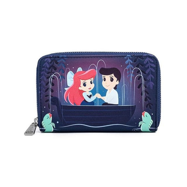 Disney Little Mermaid Gondola Scene Zip-Around Wallet