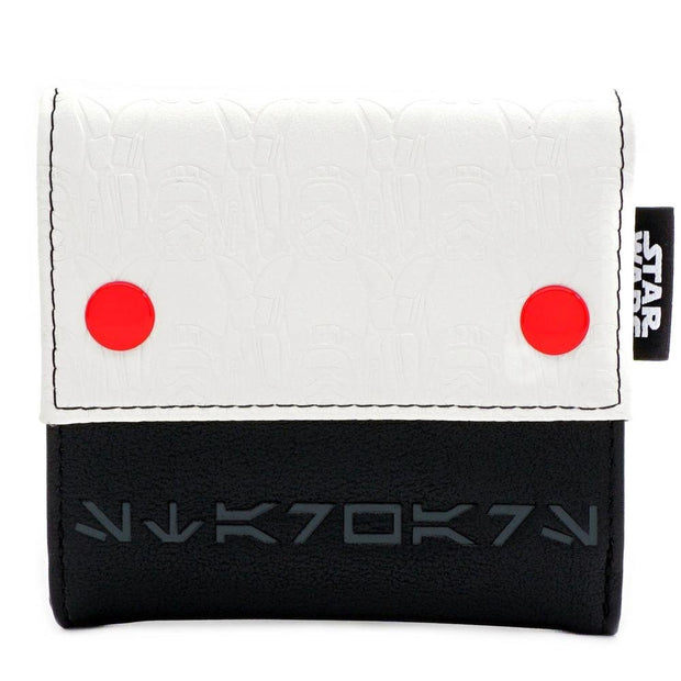 LOUNGEFLY X STAR WARS WHITE TROOPER WALLET - FRONT