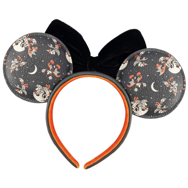 Disney Mickey & Minnie Halloween Allover Print Ears Headband