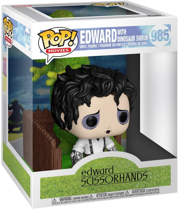 Edward Scissorhands Edward & Dino Hedge Deluxe POP! Vinyl Figure