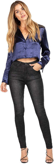 Junior Wannabettabutt High-Rise Denim Skinny Jean