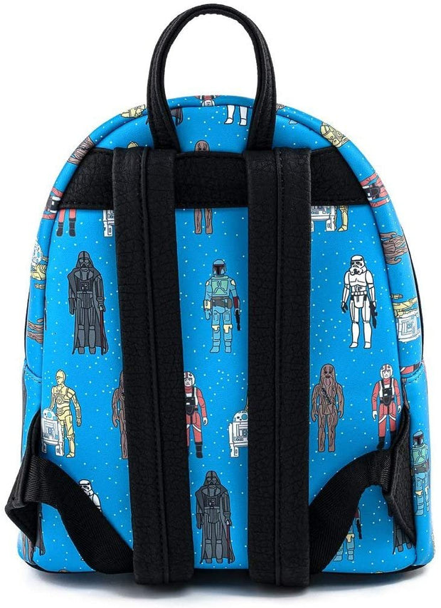 Star Wars Action Figures Allover Print Mini Backpack