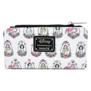 Loungefly x Disney Princess Portraits Allover-Print Wallet - FRONT