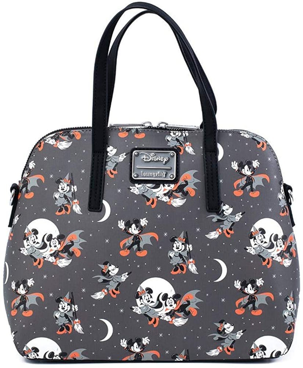 Disney Mickey & Minnie Halloween Allover Print Crossbody Bag