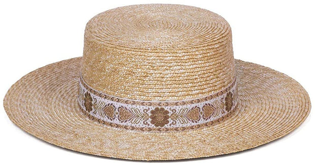 Spencer Special Vintage Ribbon Straw Boater Hat