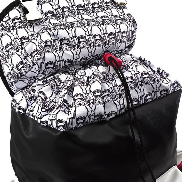 LOUNGEFLY X STAR WARS WHITE TROOPER DEBOSSED BACKPACK - INSIDE PRINT