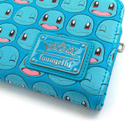 Loungefly x Pokemon Squirtle Faces Faux-Leather Flap Wallet - LOGO