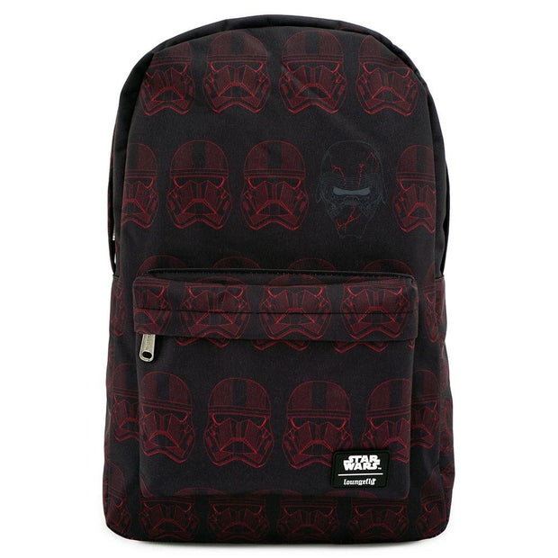 LOUNGEFLY X STAR WARS RED SITH TROOPER NYLON BACKPACK - FRONT