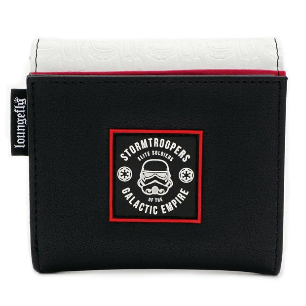 LOUNGEFLY X STAR WARS WHITE TROOPER WALLET - BACK