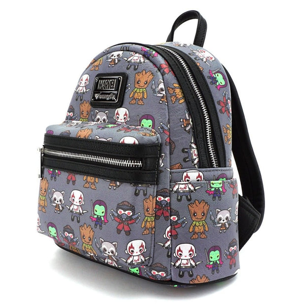 Loungefly X Marvel Guardians of the Galaxy Kawaii Mini Backpack - SIDE
