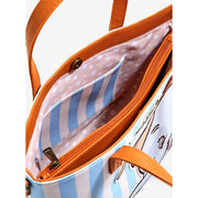 Loungefly x Disney Dumbo Striped Tote Bag with Crossbody Strap - INSIDE PRINT