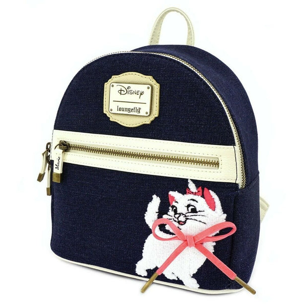 Loungefly x The Aristocats Marie Denim Mini Backpack - SIDE