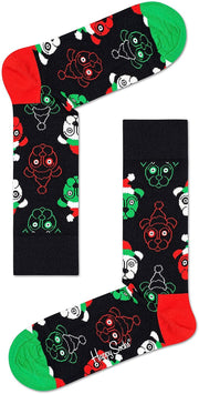 Holiday Psychedelic Candy Cane 4 Pack of Socks Gift Box