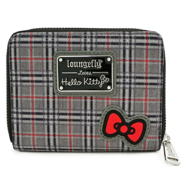 Loungefly x Hello Kitty Faux-Leather Plaid Zip-Around Wallet - BACK