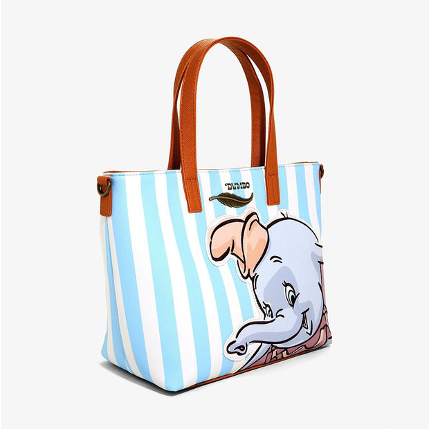 Loungefly x Disney Dumbo Striped Tote Bag with Crossbody Strap - SIDE