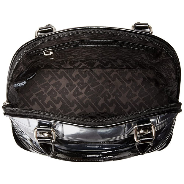 Loungefly Captain Phasma Silver Metallic Embossed Dome Top Handle Bag - INSIDE PRINT