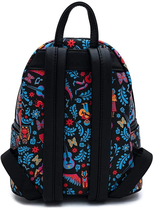 Disney Pixar Coco Dia de los Muertos Allover Print Mini Backpack