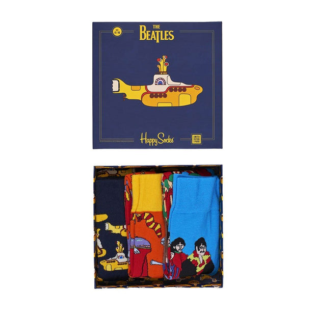 The Beatles Submarine Socks Box Set - 3-Pack