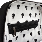 LOUNGEFLY X MARVEL PUNISHER EMBROIDERED CANVAS SQUARE BACKPACK - INSIDE PRINT