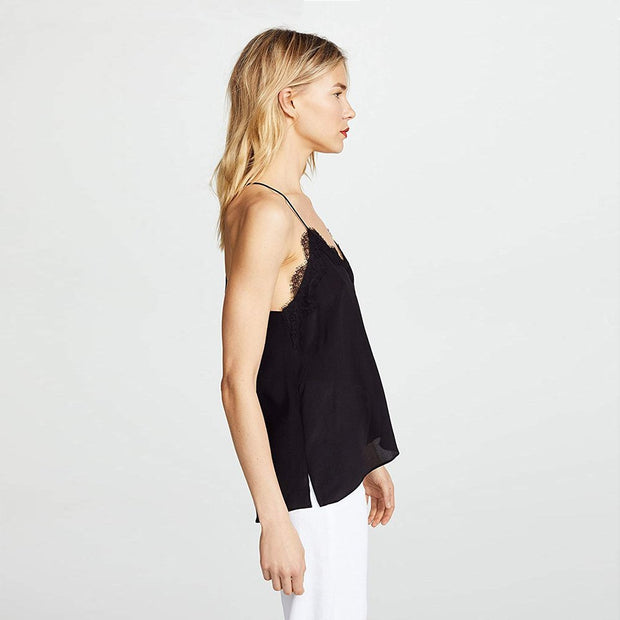 Racer Silk Top