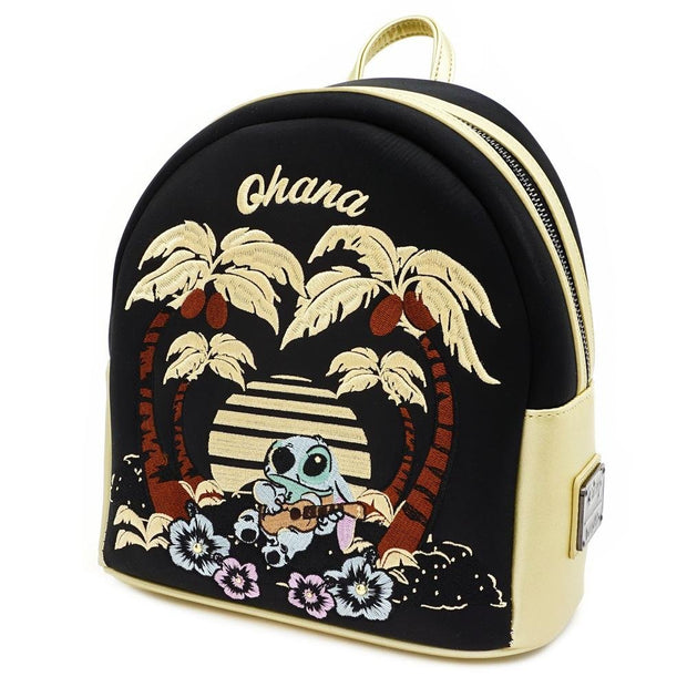 LOUNGEFLY X DISNEY LILO AND STITCH SATIN STITCH MINI BACKPACK - SIDE