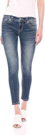 Abstract Love Mid Rise Ankle Skinny Jeans