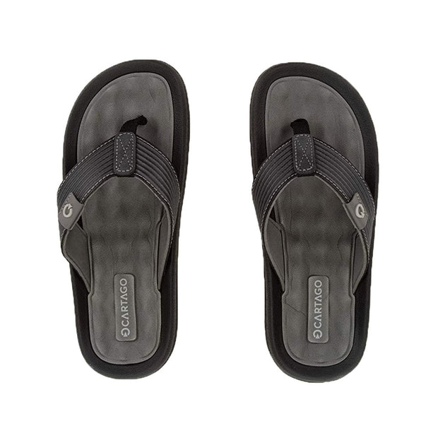 CARTAGO DUNAS VI MEN'S SANDALS CONFORMING EVA INSOLE - GREY BLACK TOP