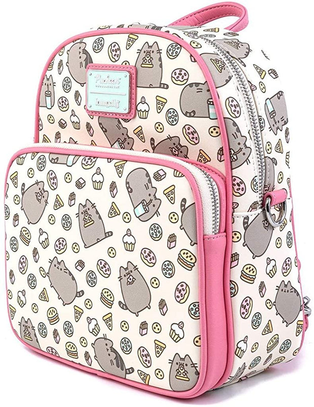 Pusheen Snackies Allover Print Convertible Mini Backpack