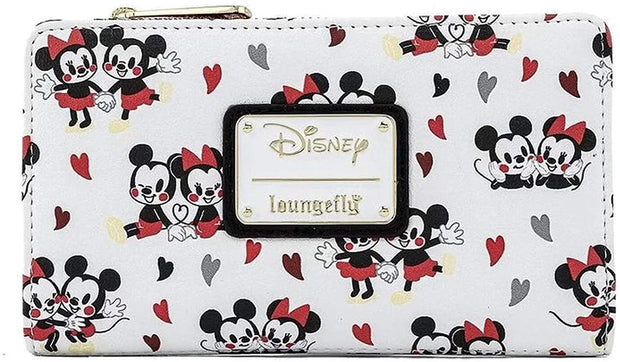 Loungefly Disney Mickey and Minnie Mouse Love AOP Faux Leather Wallet